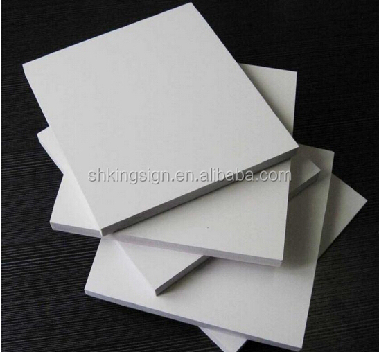 3mm white print 0.6 density PVC Foam Board for display stand panel