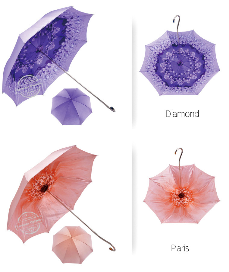 2015 new inventions in china flower umbrella,flower decoration print inside umbrella,lady umbrellas ladies gift items