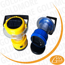 Goldmore3 9 led rechargeable solar lantern, two solar panel camping light, new popular solar light