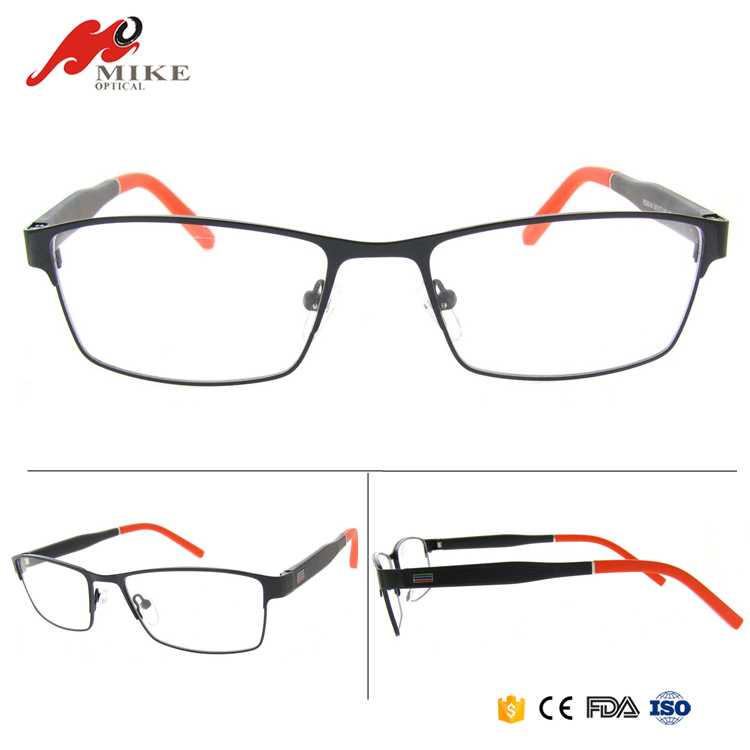 Cheap full rims ready stock eyeglasses, colorful stock optical frames without spring hinge