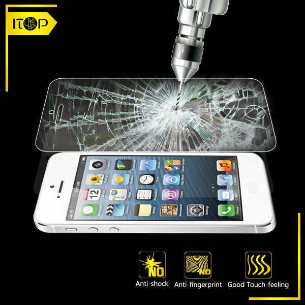 For iphone4/4s high quality tempered glass screen protector 0.33mm mobile phone accessories Guangzhou Original factory made