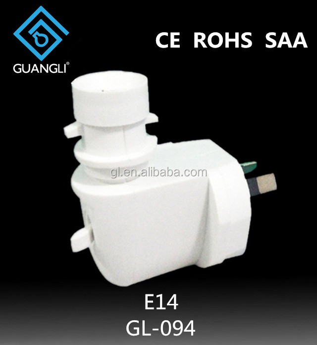 CE SAA lampholder 220-240V lamp holder electrical plug socket for night lights australia type e14 plastic lamp base
