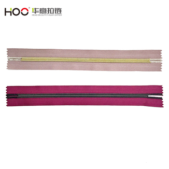 High end light golden nickel free nylon long chain for clothes