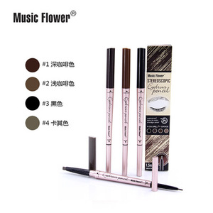 Music Flower Natural easy to color eyebrow Waterproof 3D Eyebrow pencil Wholesale