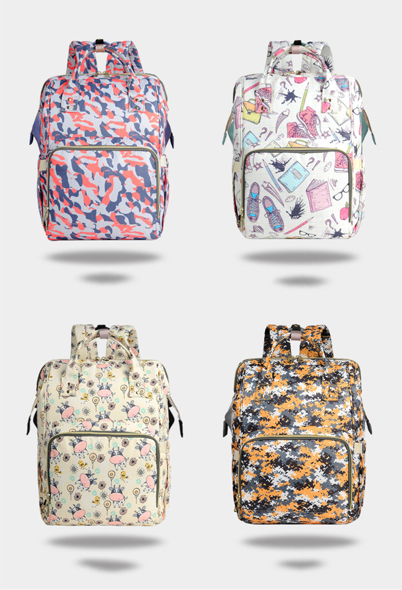 2019 New designs colorful mummy backpacks