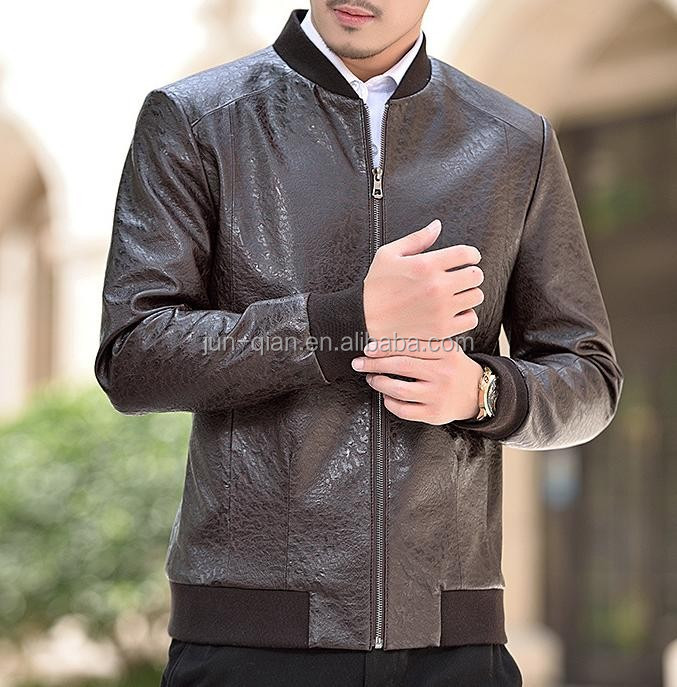 alibaba china leather jacket for men in india Faux Leather Jacket