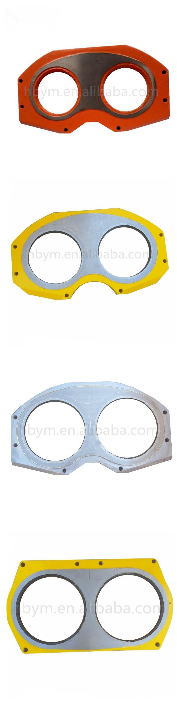 Concrete Pump Parts Wear Spectcle Plate For Putzmeister Schwing IHI Kyokuto Nigata