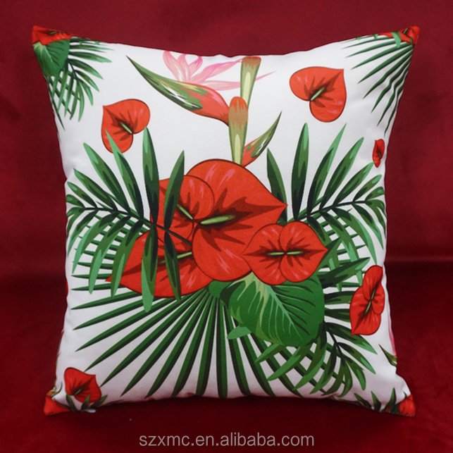Flowers series printed polyester pillow case home sofa decorative cushion