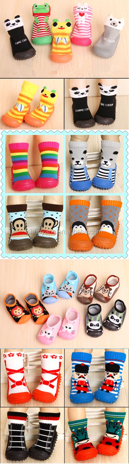 Shuoyang Crochet Libre Patrón Calcetines De Bebés Con Suela De Goma ...