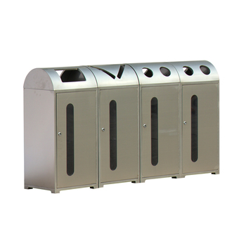 outdoor custom compartment recycling receptacle bins
