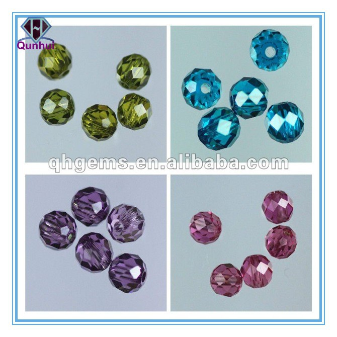 good quality ball shaped multi-color cubic zirconia