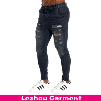 88e37b764f21d Nuevo Estilo Hombres Vaqueros 2016 Elástico Skinny Jean Pantalones ...