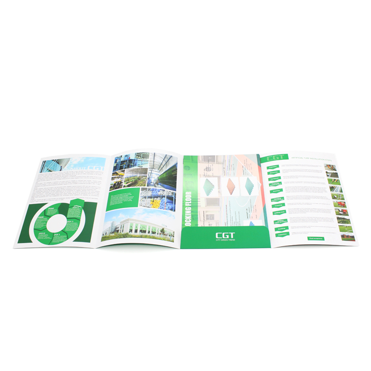 Tri fold accordion flyer leaflet design laminated folding brochure advertising booklet catalogue magazine printing