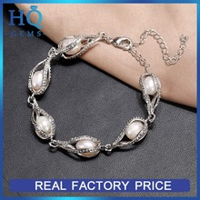 Wholesale alloy cream pearl bracelet jewelry freshwater Pearl chains