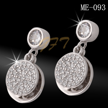 High quality 925 sterling silver ladies earring set