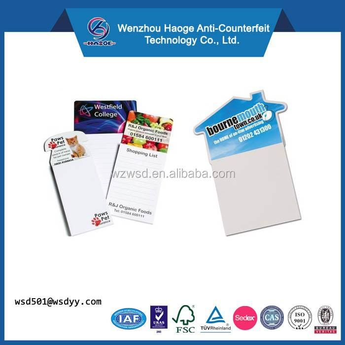 Folded Paper Product Type and Business Gift Use fridge magnet notepad and pen