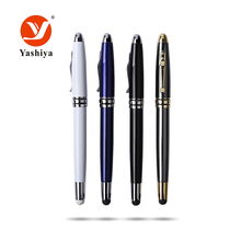 Aluminum sign smooth writing Rollerball pen for gift gold parts with touch stylus