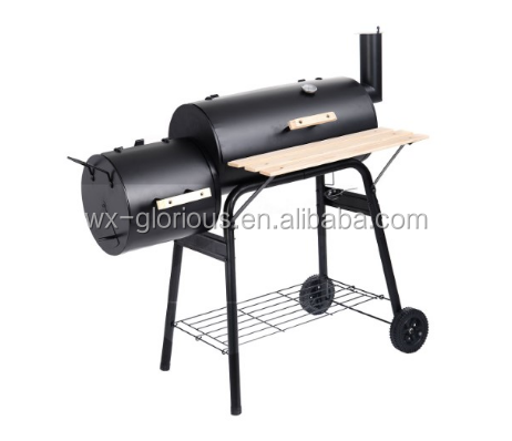 Outdoor Heavy Duty two barres Charcoal bbq Grills & smoker