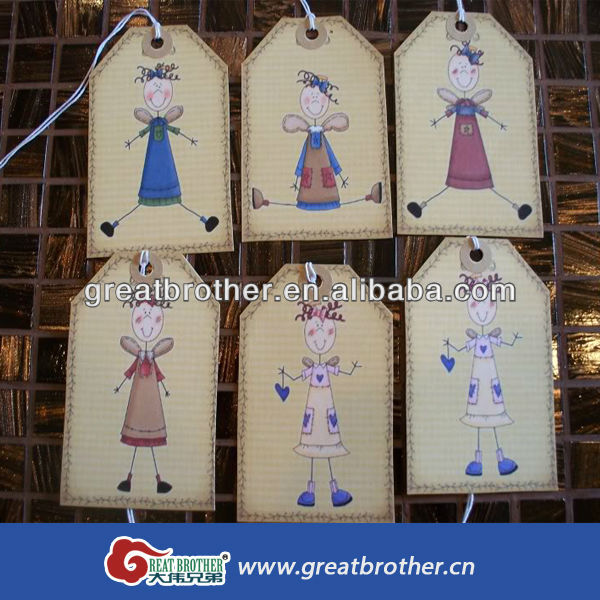 cost price four color hang tag printing