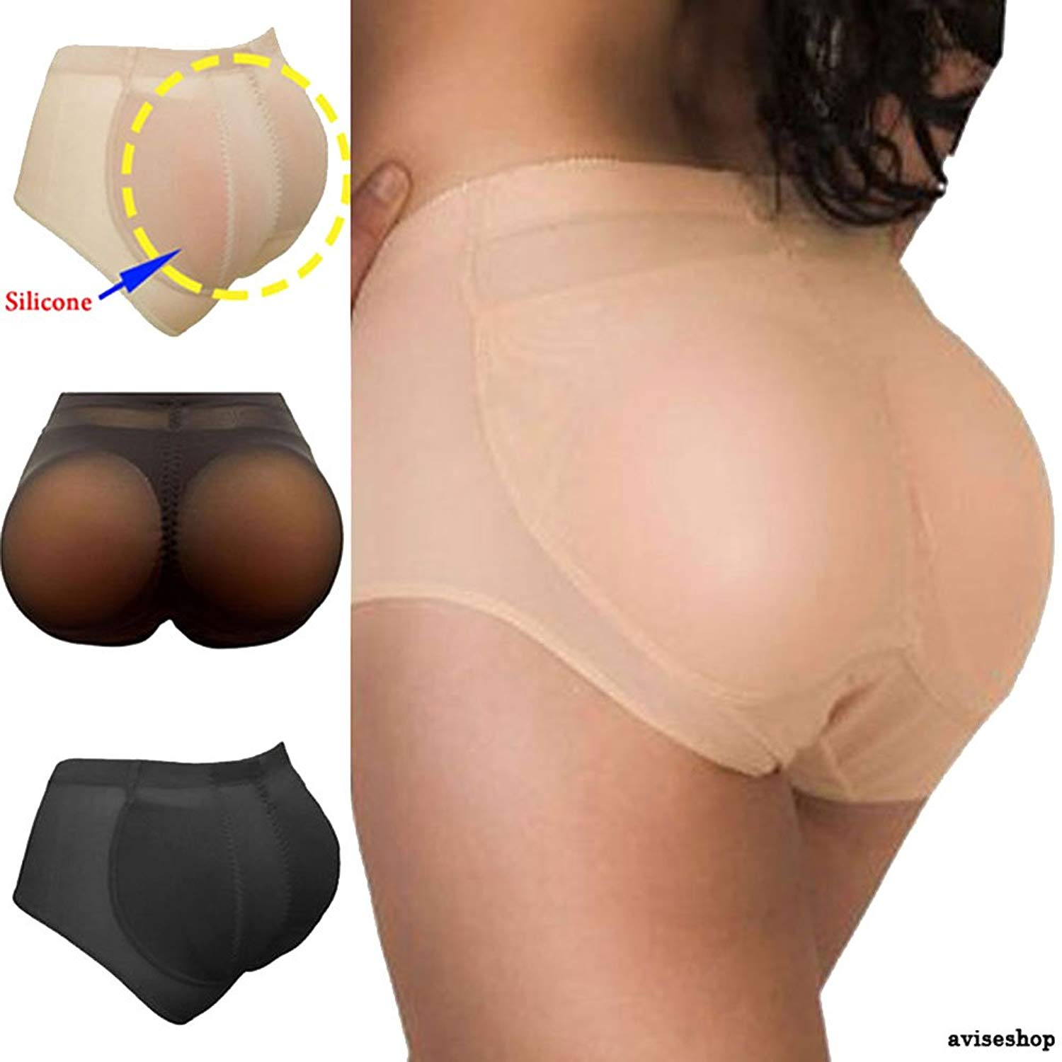 8b5efc231b346 Best Silicone Butt Padded Buttocks Enhancer Body Shaper Push up Pads Panty  Set