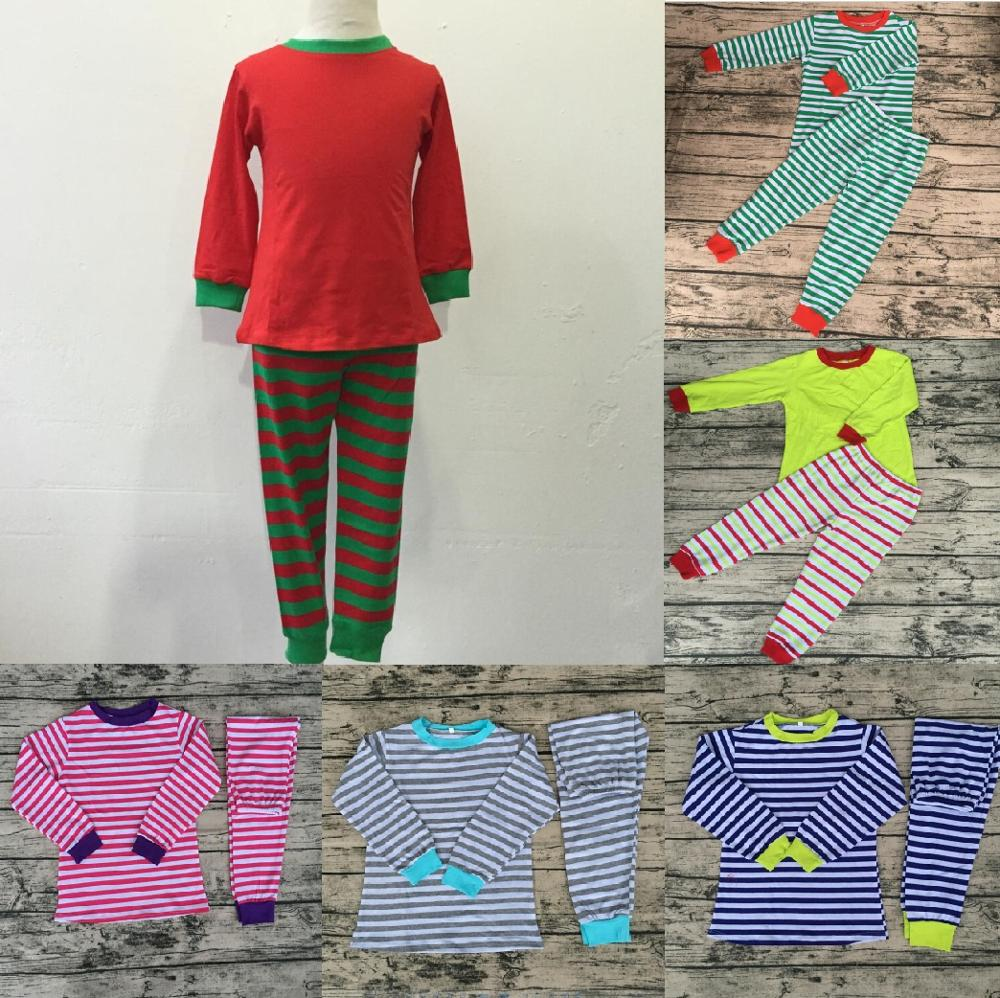 fd5670cefb Baby unisex clothing colorful baby sleepwear cotton red green blue yellow  pink white striped pajamas kids
