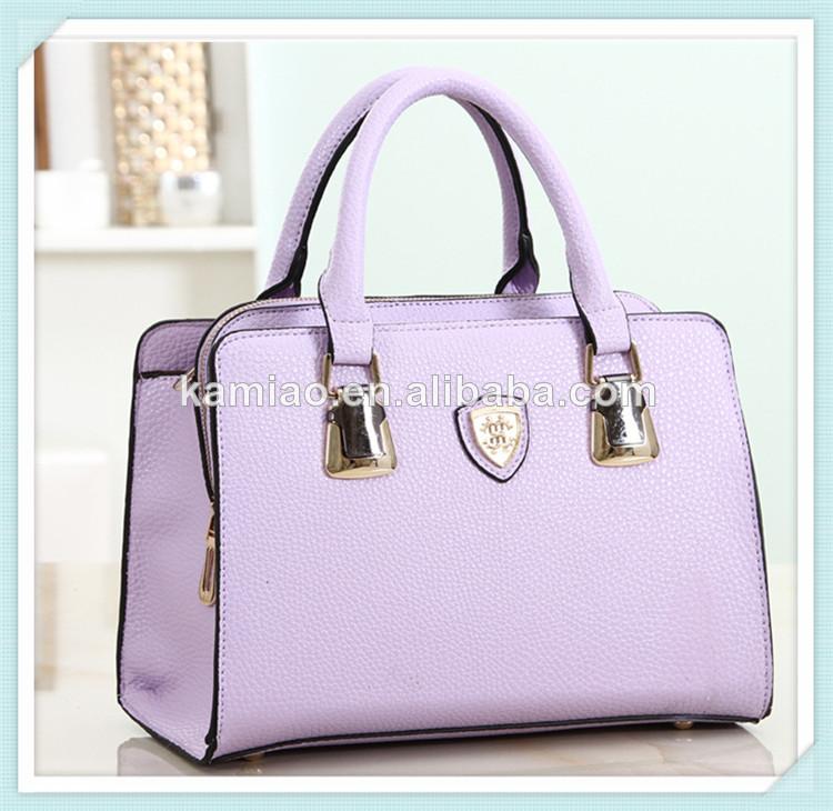 6e6ae98a140 diseño de moda nueva para adultos de la mujer de color púrpura de cuero  bolso de