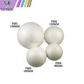 Plain White Colour Christmas Polystyrene Ball - Buy Plain ...