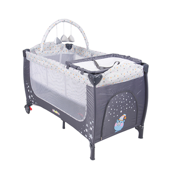Baby Room Furniture Second Layer Infant Bed, Supplier Sleeping And Playing Chidren Furniture/