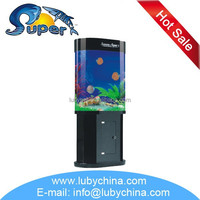 super aquatic Acrylic View fish home tank for ornamental fish, with filter and light