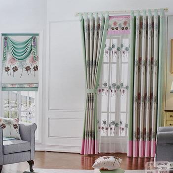 Philippines Curtains Designs Velvet Green Striped