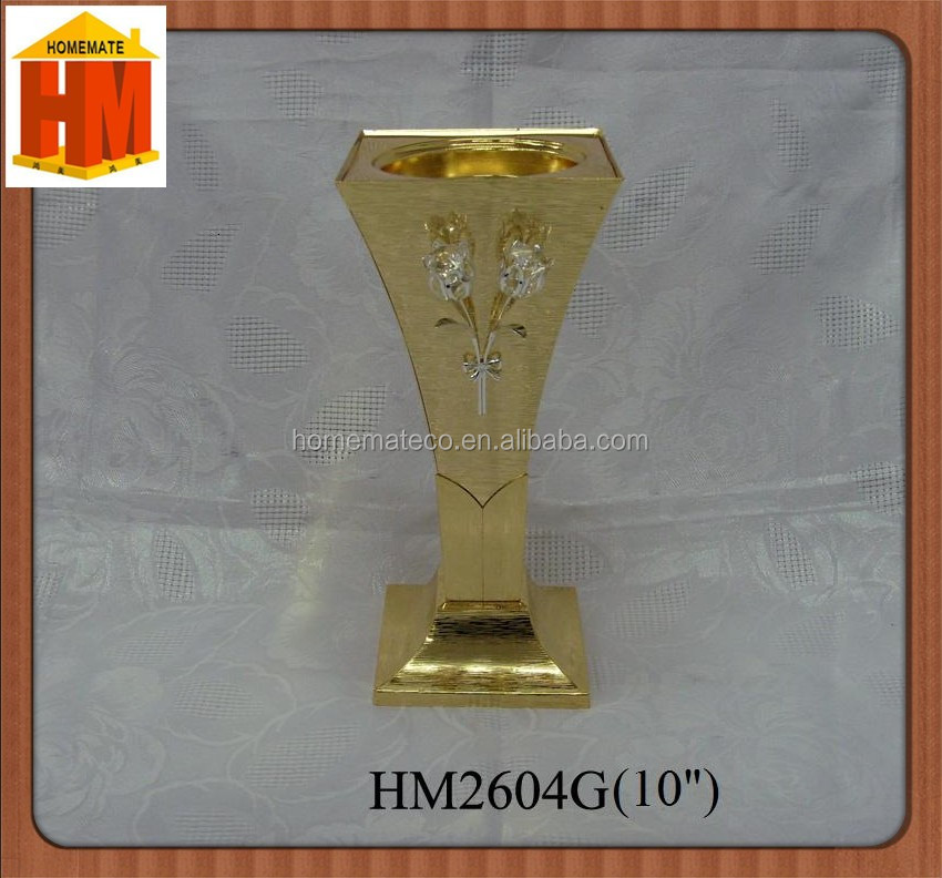Golden decoration metal platform shape essential oil incense burner