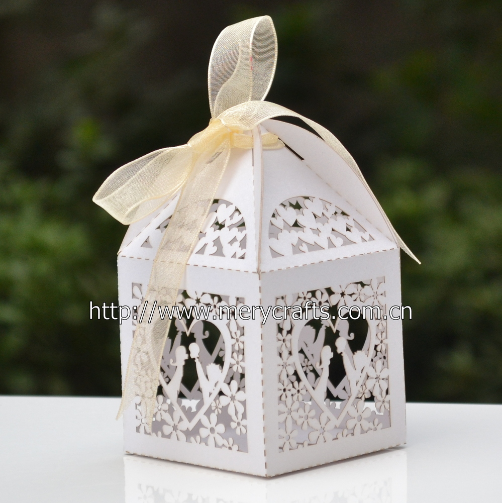 Personalized Wedding Cake Boxes Laser Cut Wedding Favors With Free ...