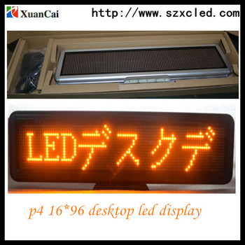 XUANCAI LED Mini Display Led desk board 16*96 yellow(Direct Manufacturer)