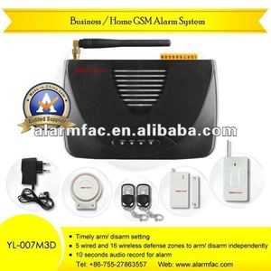 2014 newest professional remote control vibration alarm wireless security home security alarm system YL-007M3D