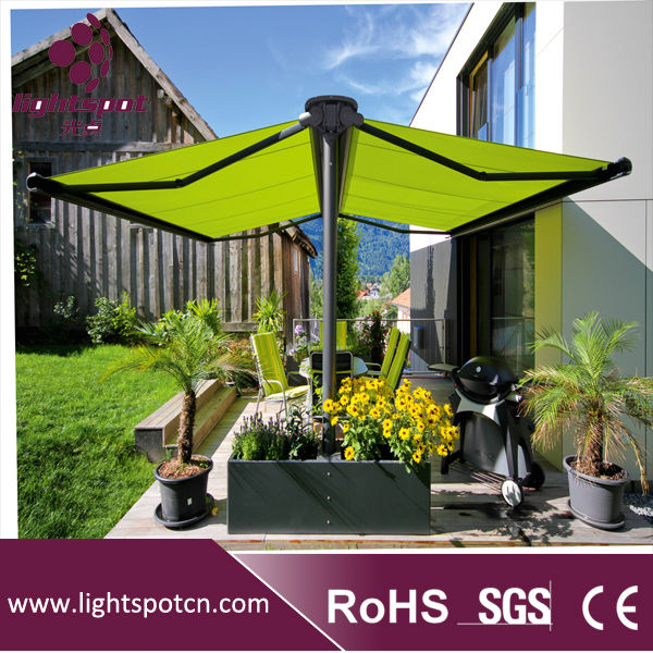 Hot Sale Retractable Car Parking Awning Double Sided Awnings For