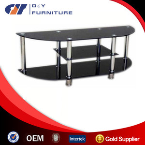 Modern glass LCD TV stand for living room furniture
