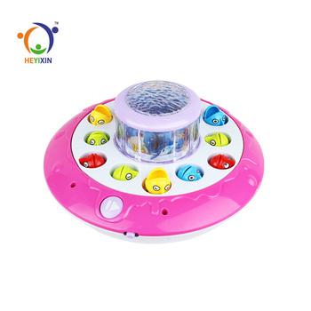 Top Selling Projectie Functie Draaien Kids Plastic Speelgoed Vis