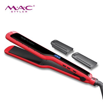New Design Digital Display 750F Hair Straightener Made In China Fashion Hair Straightener With Comb Teeth
