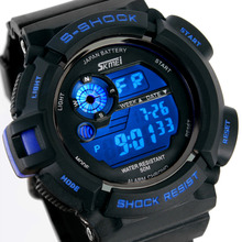 Homens esportes relógios s-choque militar relógio de pulso de moda de mergulho esporte Digital LED relógios impermeável relógio Masculino