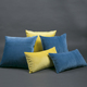 High quality blue and yellow dutch velvet square decorative sofa throw pillows