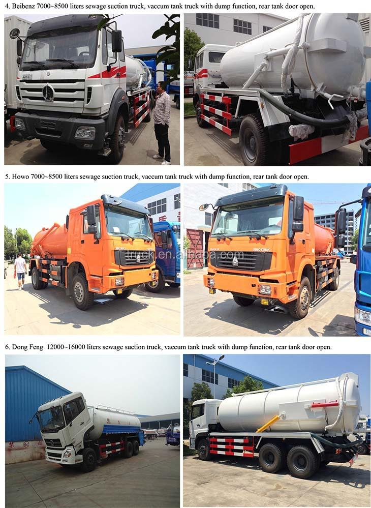 3 cbm Abwasser Tankwagen, 3000 Liter Abwasser Tankwagen, 1000 Gallonen Abwasser Reinigungswagen