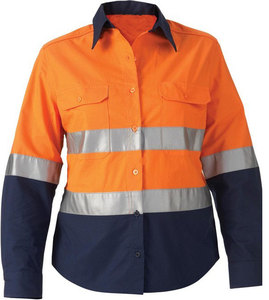 High quality hi vis long sleeves reflective safety work t shirt