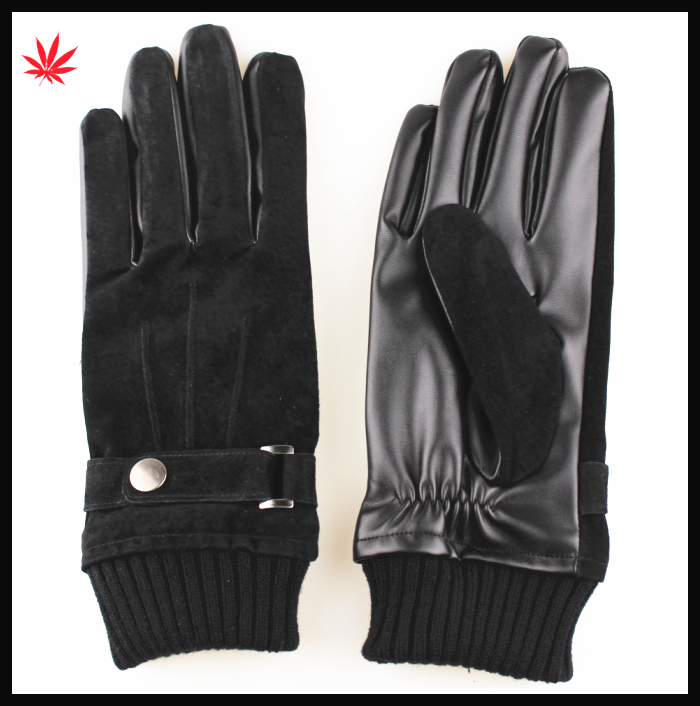 men's Fashion Italian suede leather winter warm lined Gloves