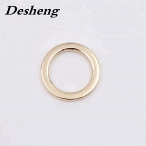 Wholesale gold nickel free metal 1 inch O ring for bag accessory