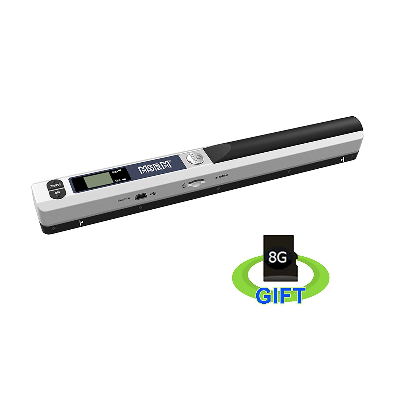 MSRM Wand Mobile Document & Image Scanner USB Portable Scanner with 8G Micro SD Card [Silver]