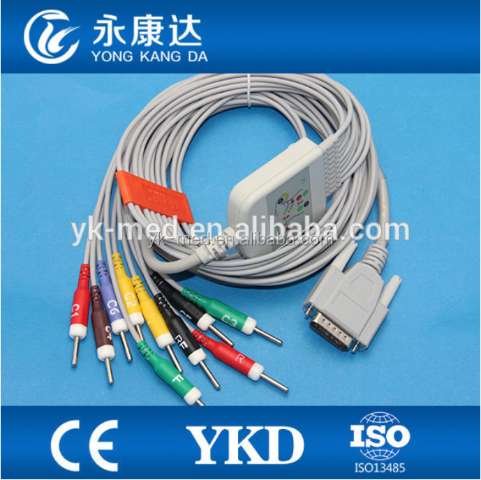 One-Piece EKG Cable with IEC for compatible EDAN