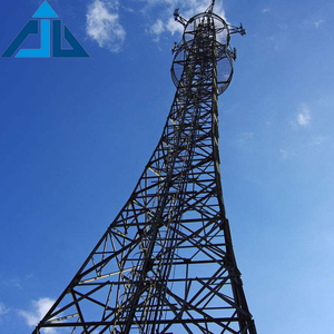 Electric communication galvanished steel antenna monopole tower for telecom