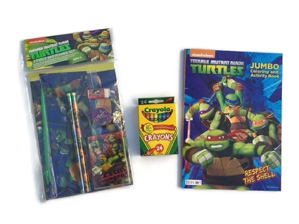 Get Ations Turtles Coloring Bundle Tmnt Sketching Activity Pencils Eraser Set