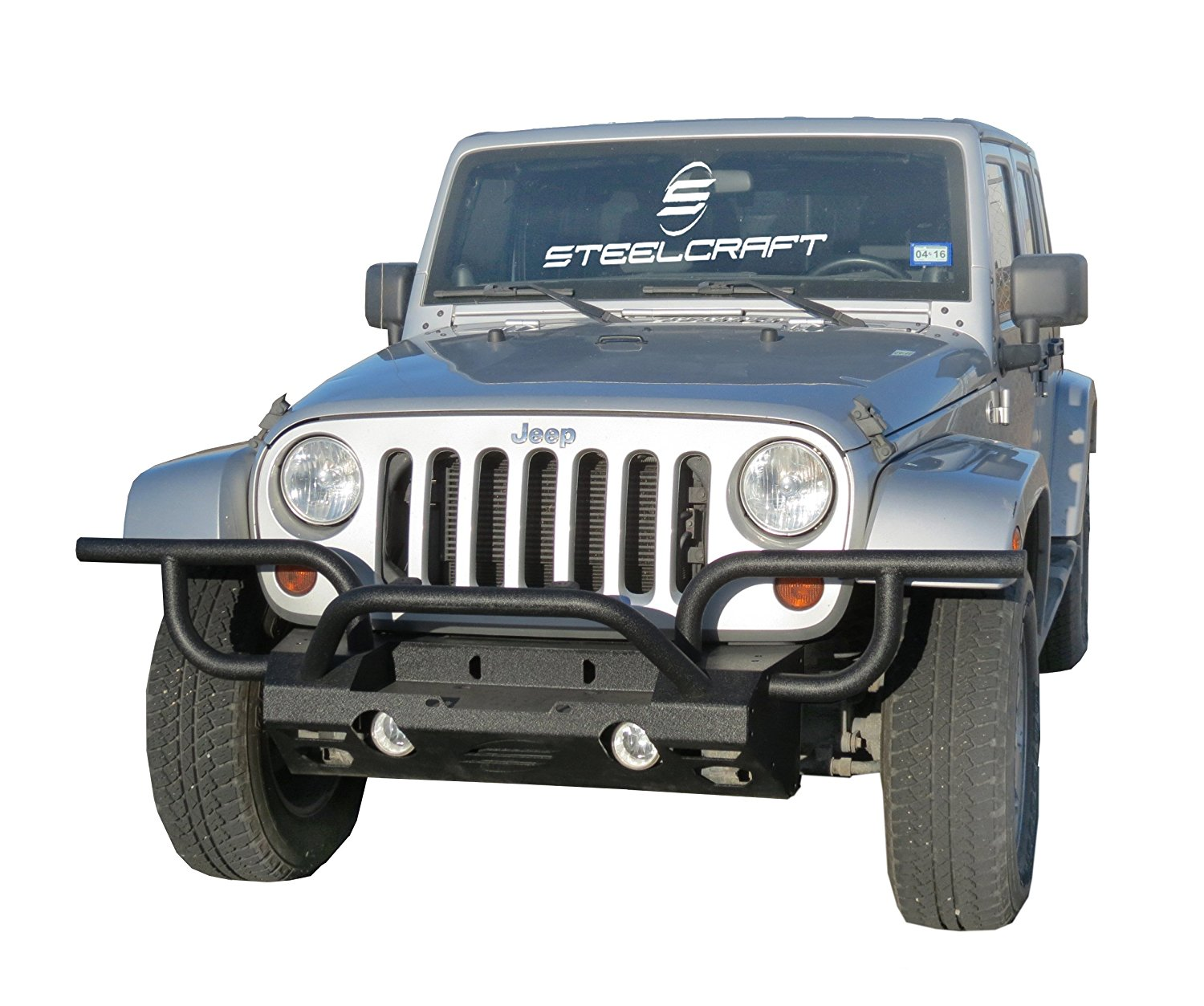 c76eac5cb9 Get Quotations · Steelcraft 92600 Custom Fit Modular Front Bumper for 2007-2016  Jeep Wrangler JK – Texture