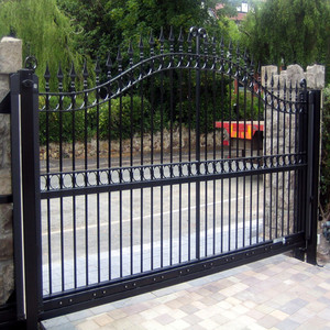 Wholesale Used Metal Iron Garden Sliding Door Gate Design